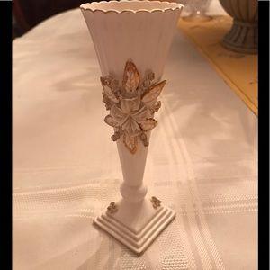 Vintage Norcrest Japan Small Ribbed Ceramic Vase